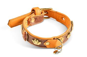 Halsband Ungarn orange Gr. 8 - ca. 33 - 37 cm, 2.5